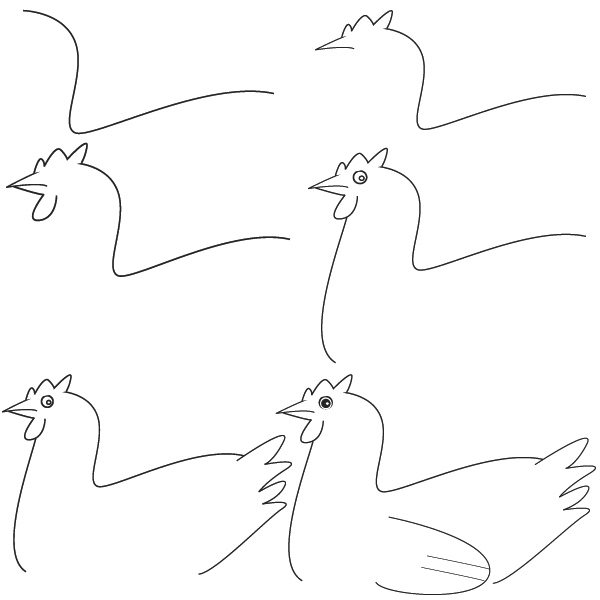 how to draw a chicken scratch and peck how to draw a chicken how draw to chicken a