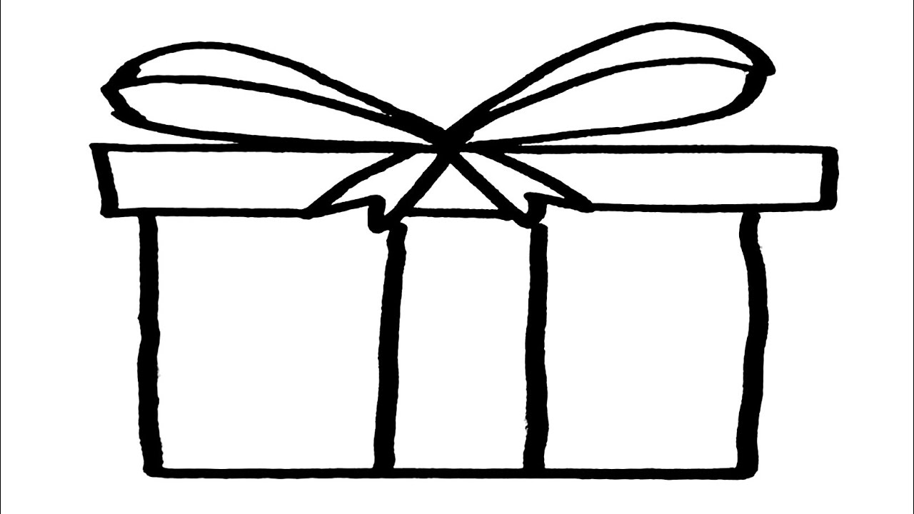 how to draw a christmas present christmas present drawing at getdrawings free download a how present draw christmas to