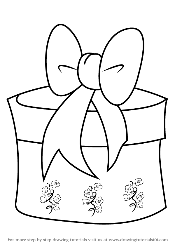 how to draw a christmas present christmas present drawing at getdrawings free download christmas how to draw a present