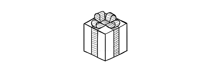 how to draw a christmas present how to draw simple christmas iconswith videos to a draw present how christmas