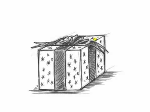 how to draw a christmas present krusty quotdaily doodlequot weekly round up how present draw christmas a to