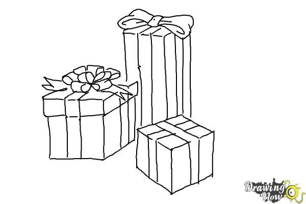 how to draw a christmas present present drawing free download on clipartmag a to present how draw christmas