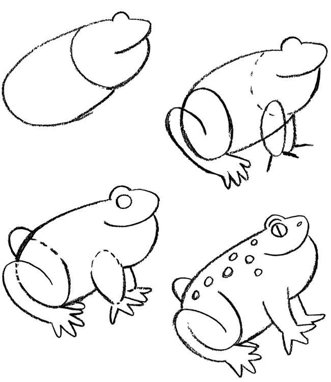 how to draw a frog easy easy simple free art lessons a to frog easy draw how