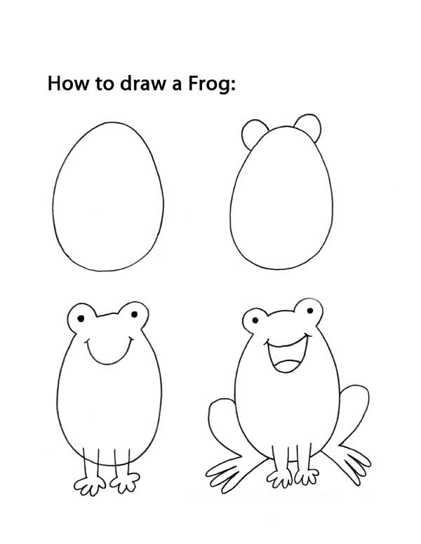 how to draw a frog easy inkspired musings it39s hard to be green easy how a frog to draw