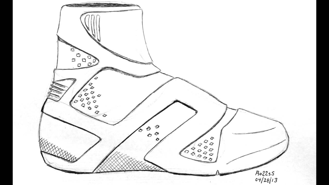 how to draw a simple shoe basketball shoes drawing at getdrawings free download simple a how to shoe draw