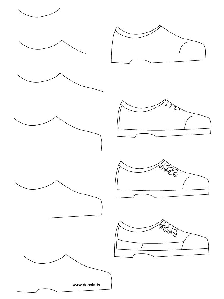 how to draw a simple shoe how to draw shoes drawingforallnet how simple shoe to a draw