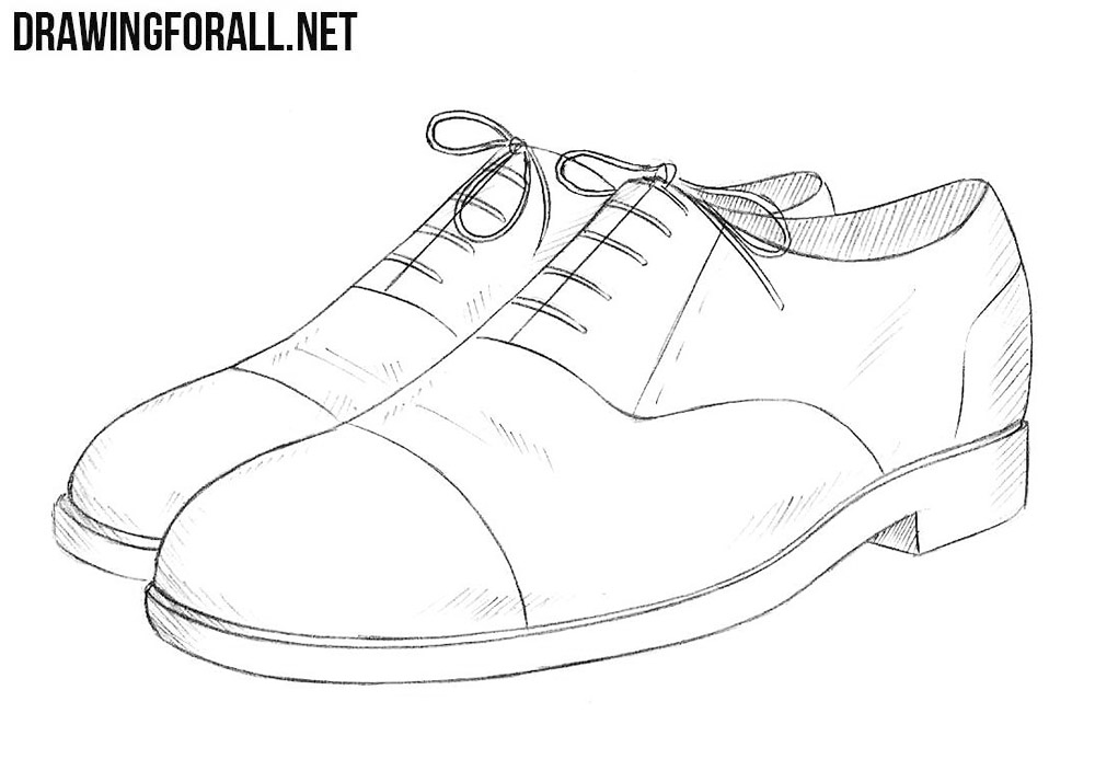 how to draw a simple shoe tennis shoe drawing at getdrawings free download a draw simple how to shoe