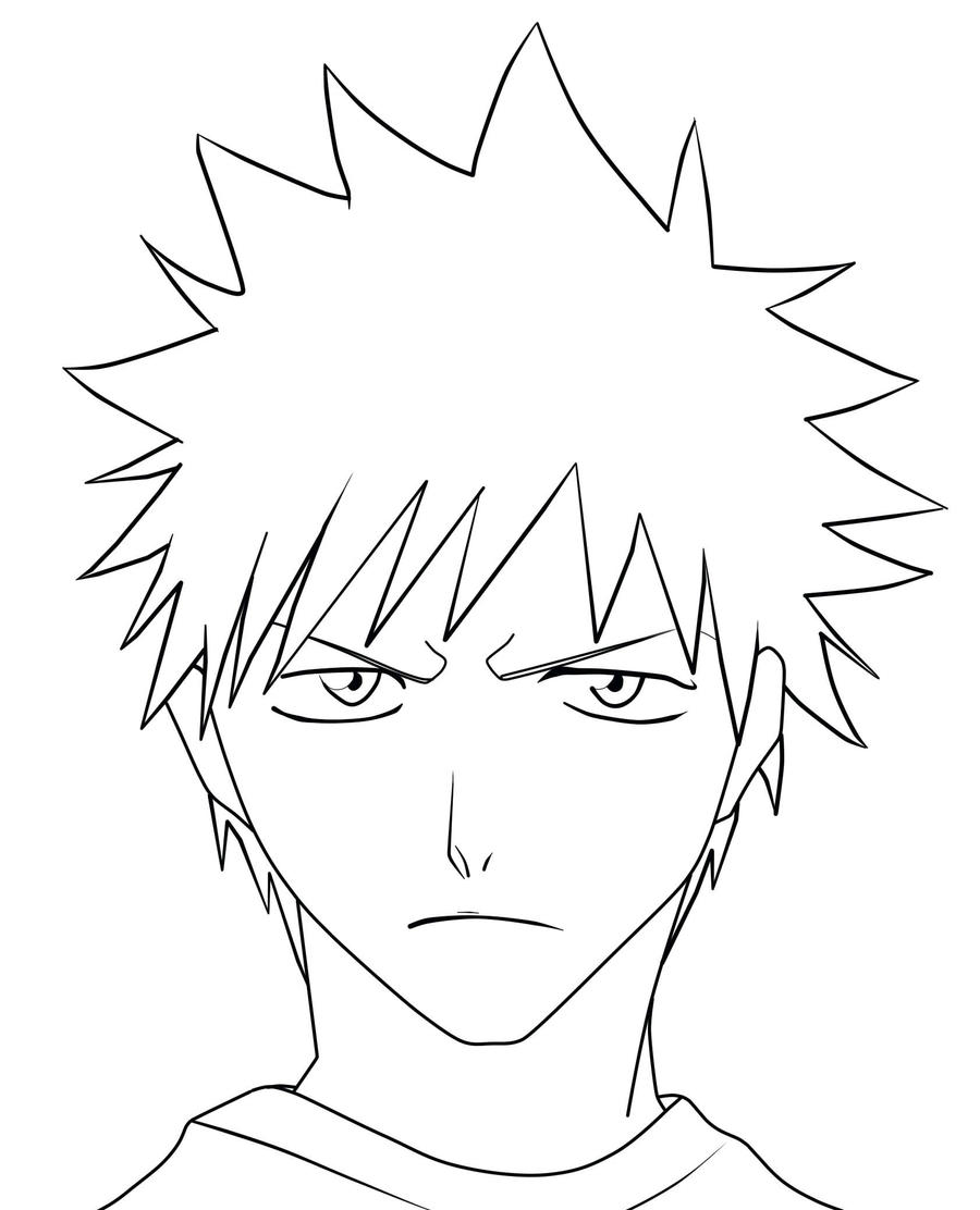 how to draw ichigo how to draw hollow ichigo step by step bleach characters to ichigo how draw