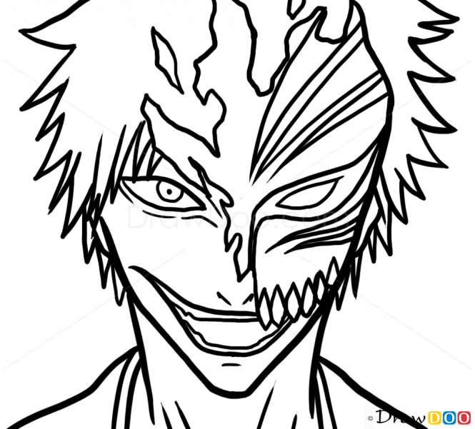 how to draw ichigo how to draw ichigo kurosaki mask bleach manga draw to ichigo how