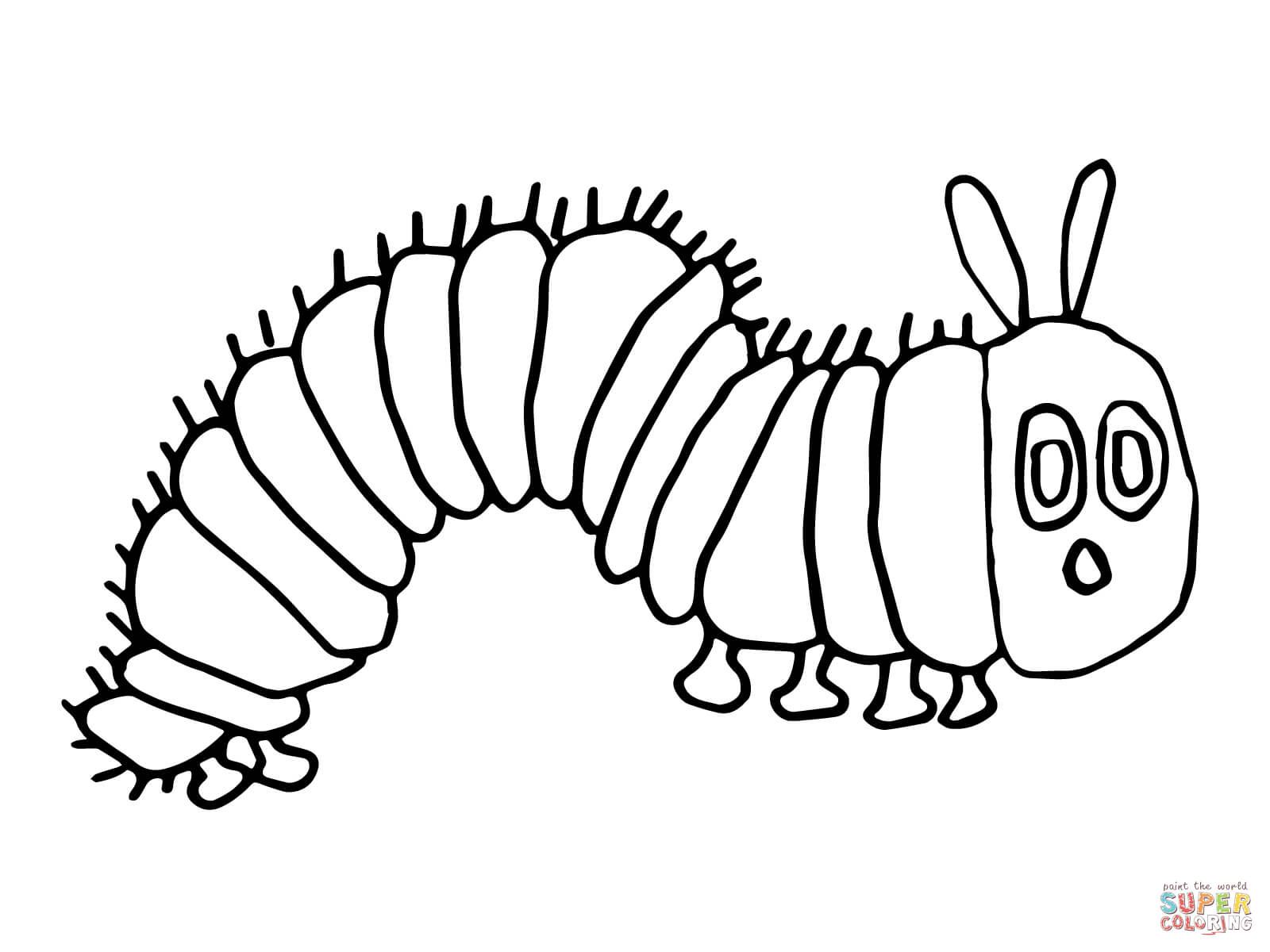hungry caterpillar coloring page very hungry caterpillar coloring pages to download and hungry caterpillar page coloring