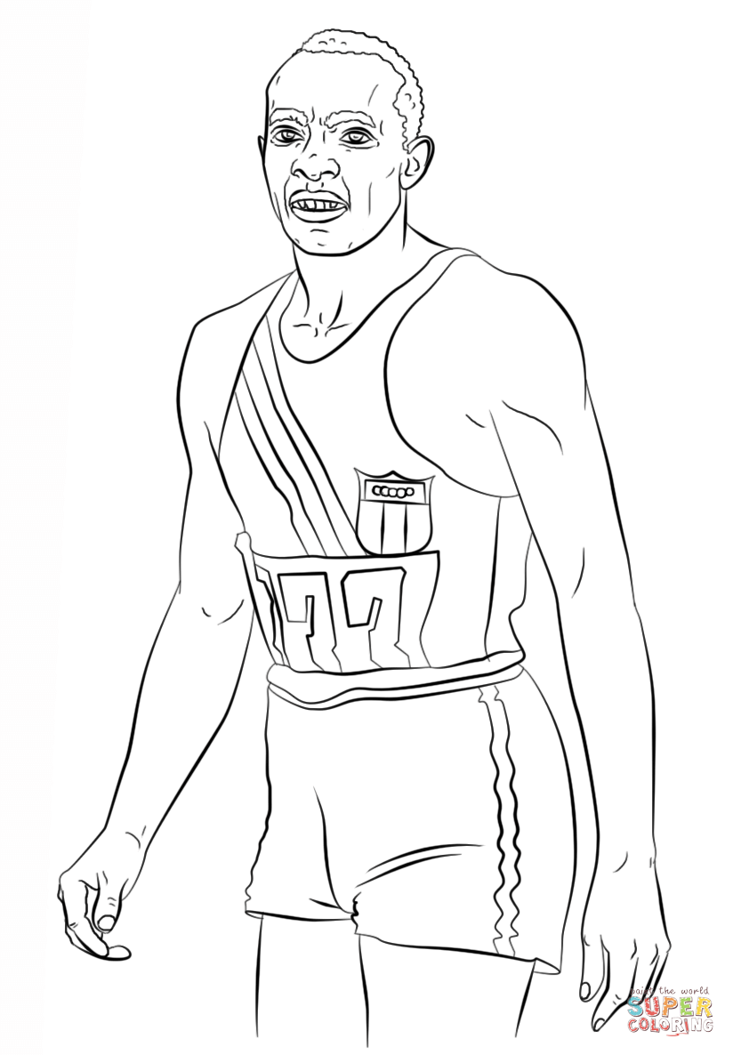 jesse owens coloring sheet how to draw jesse owens step by step sports pop culture coloring jesse sheet owens