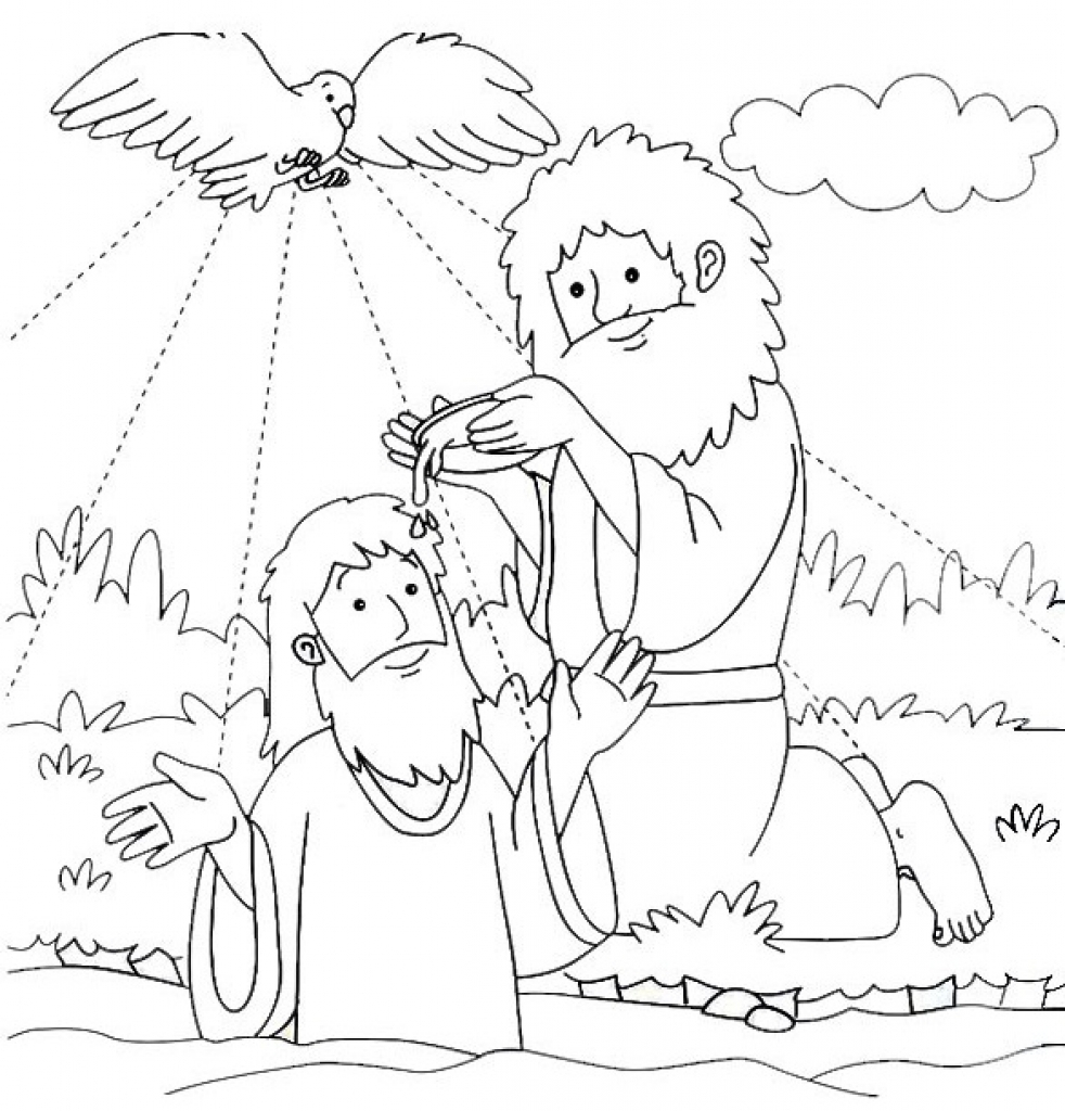 jesus baptism coloring page baptism coloring pages printables at getcoloringscom jesus page baptism coloring