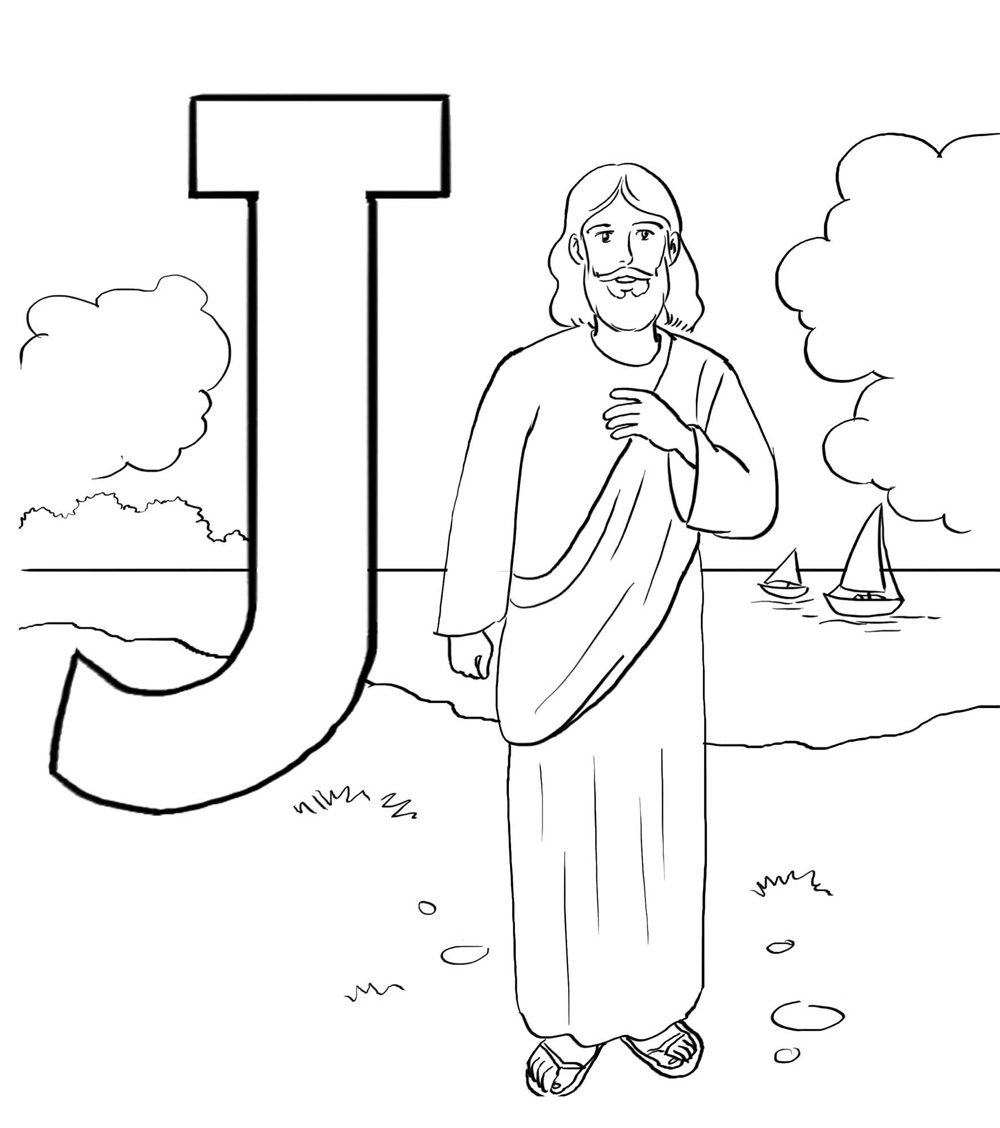 jesus coloring pages j is for jesus bible alphabet coloring page jesus pages coloring