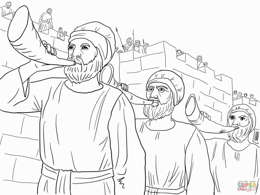 joshua jericho coloring page joshua and the battle of jericho coloring page bible joshua jericho page coloring