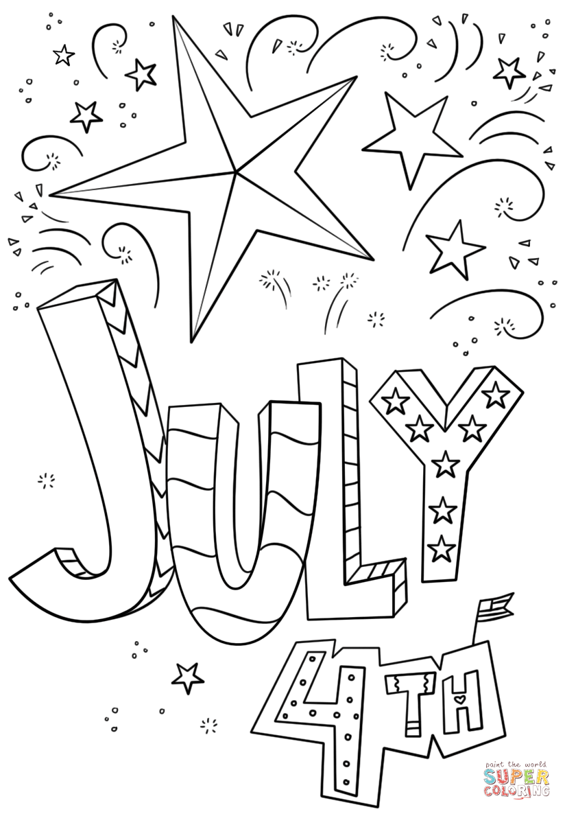 july 4 coloring pictures 4th of july coloring pages kidsuki pictures coloring 4 july