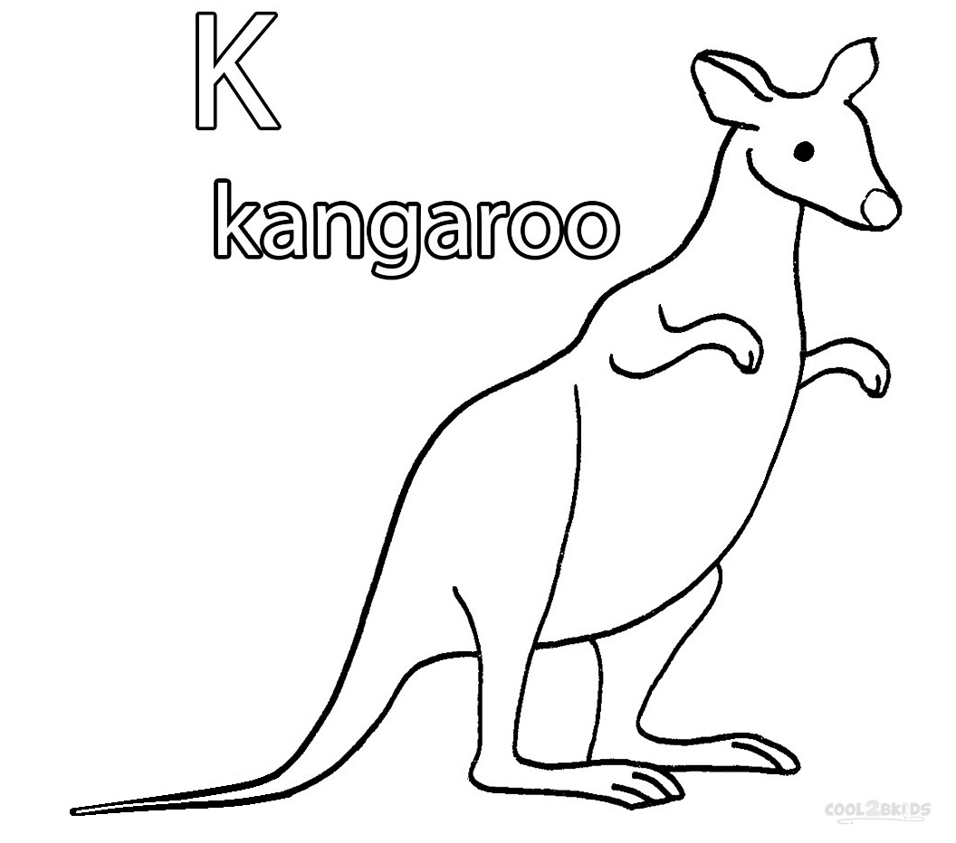 kangaroo colour in free printable kangaroo coloring pages for kids in kangaroo colour