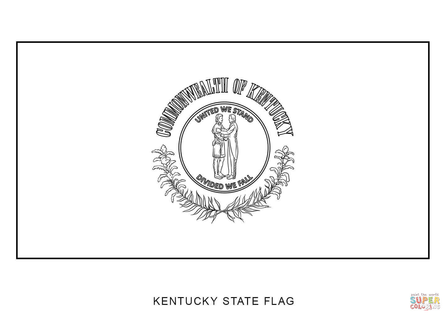 kentucky state flag coloring page kentucky state flag coloring page coloring home state page flag coloring kentucky