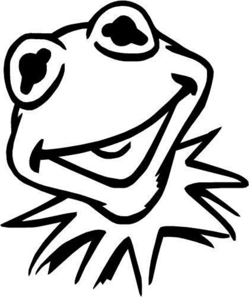 kermit the frog outline kermit drawing at getdrawings free download outline frog kermit the