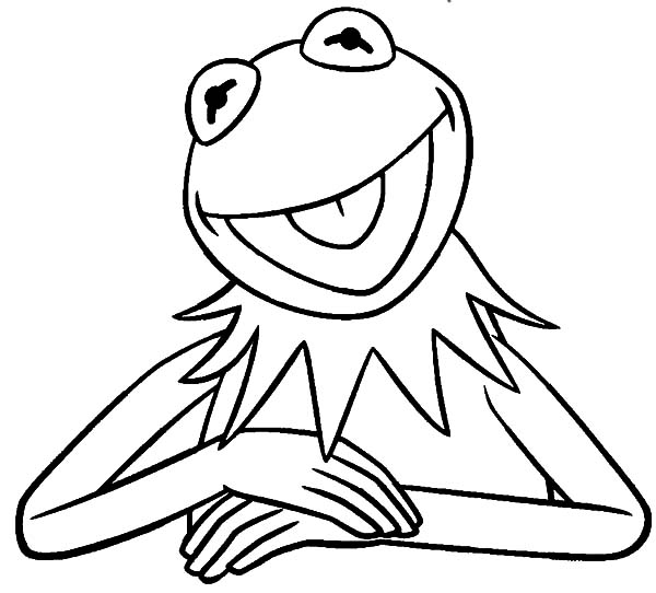 kermit the frog outline kermit the frog from the muppets show coloring pages kermit frog outline the