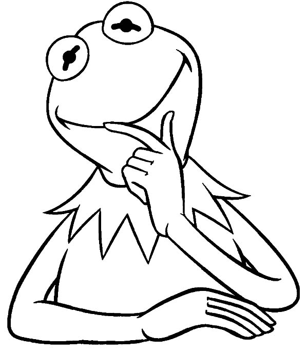 kermit the frog outline kermit the frog playing guitar coloring pages coloring sky kermit the outline frog