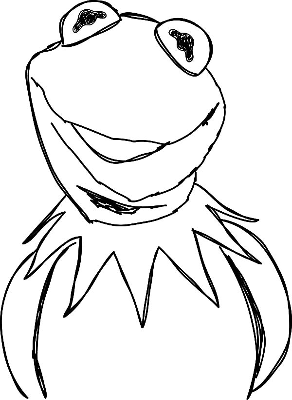 kermit the frog outline the best place for coloring page at coloringsky part 23 kermit the outline frog 1 1
