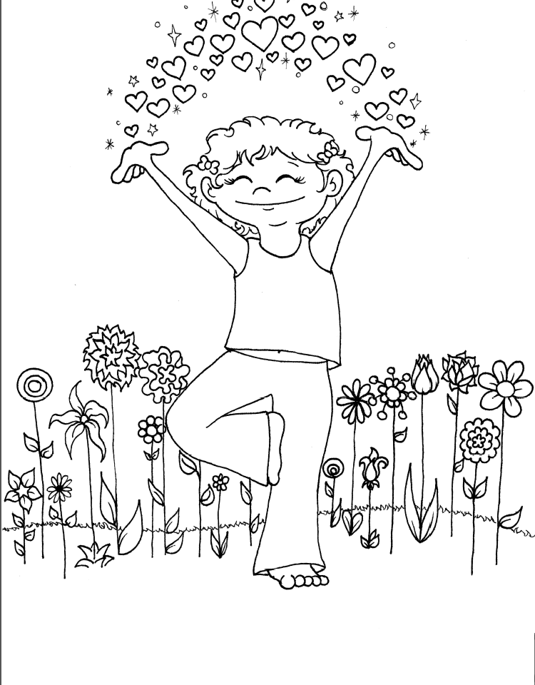 kids yoga coloring yoga coloring pages to print activity shelter coloring yoga kids