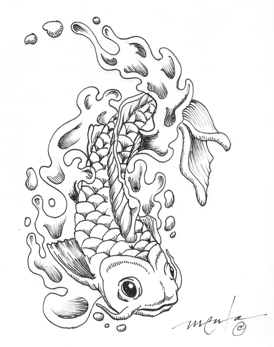 koi fish coloring page koi fish in a pond coloring page print color fun coloring koi fish page