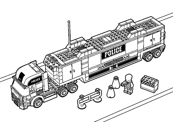 lego police truck coloring pages lego police car coloring page for kids printable free pages coloring lego truck police