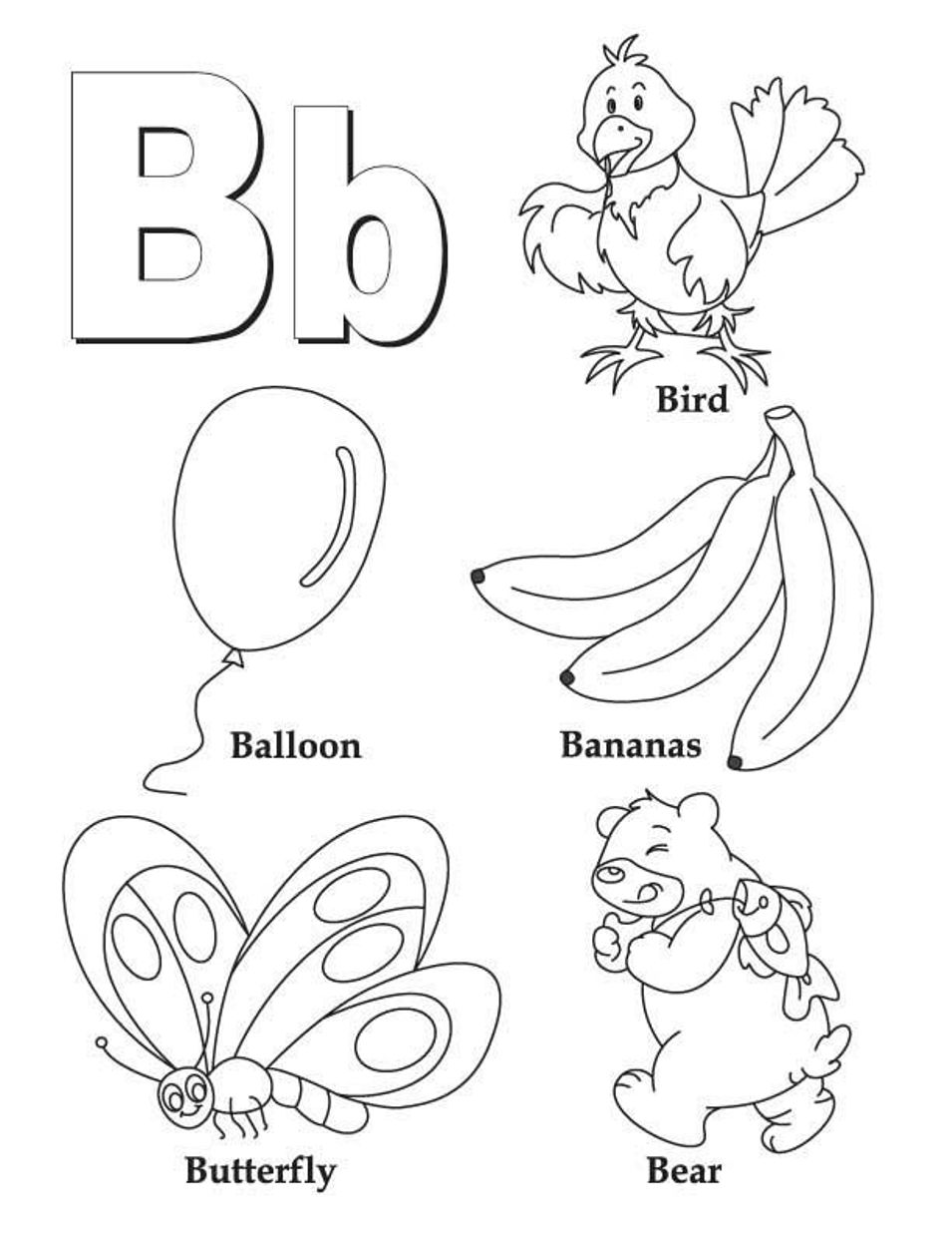 letter b coloring letter b coloring pages preschool and kindergarten b coloring letter