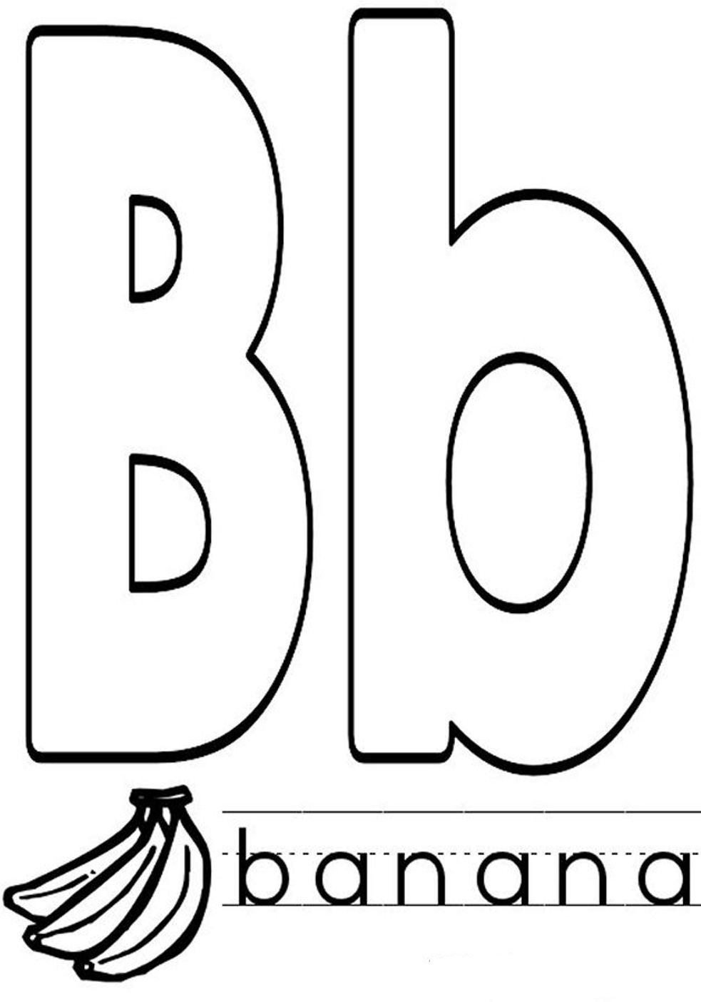 letter b coloring letter b for bunny coloring page letter coloring b