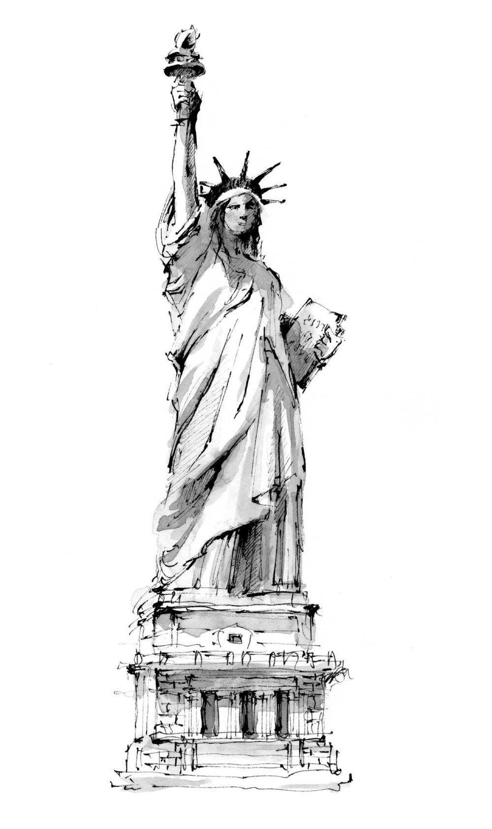 liberty sketch liberty statue sketch at paintingvalleycom explore sketch liberty