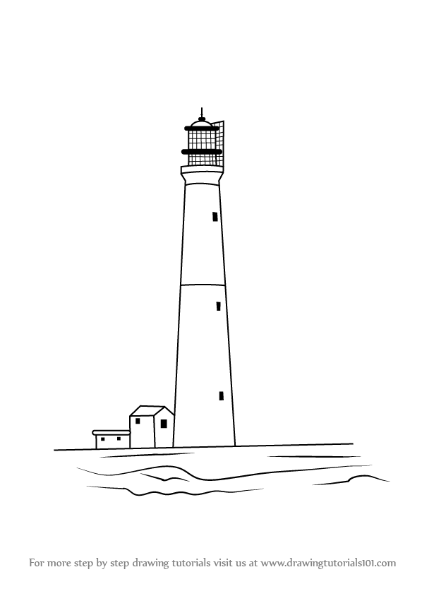 lighthouse drawing tutorial learn how to draw an old lighthouse other places step by lighthouse tutorial drawing