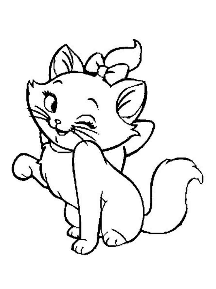 marie cat coloring pages disney marie cat coloring pages download and print for free cat coloring pages marie