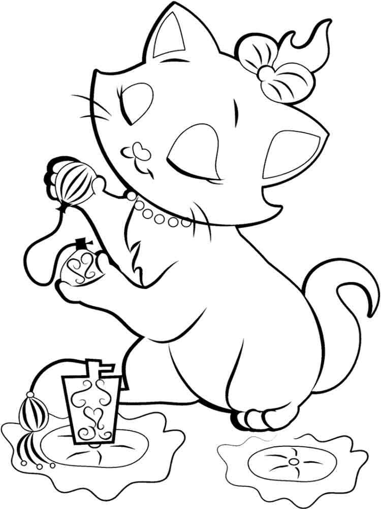 marie cat coloring pages disney marie cat coloring pages free printable disney cat pages coloring marie