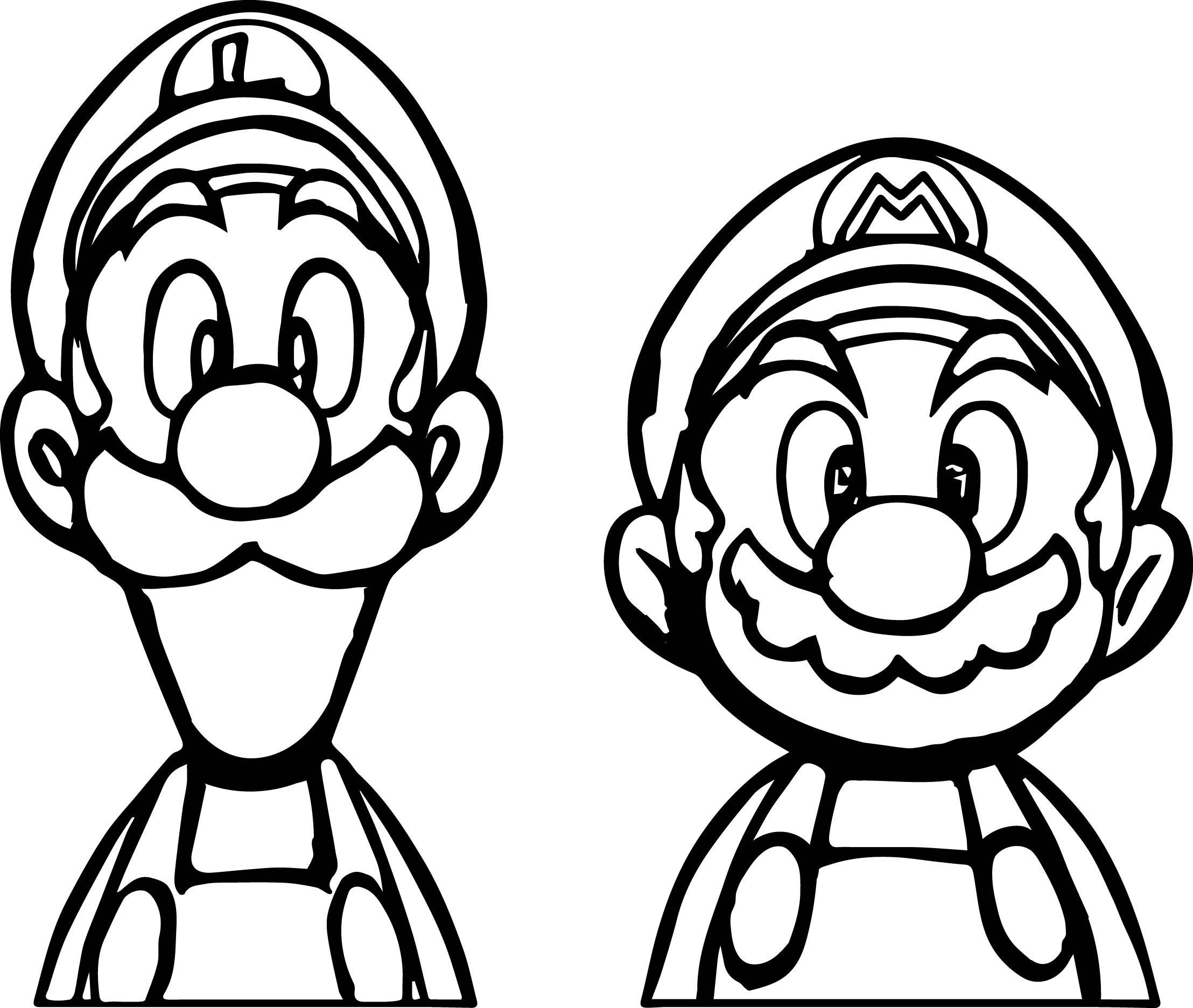 mario and luigi printable coloring pages paper mario and luigi coloring page free printable luigi mario coloring pages and printable