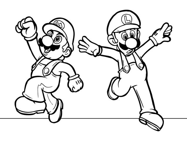 mario and luigi printable coloring pages print download mario coloring pages themes pages coloring printable luigi and mario