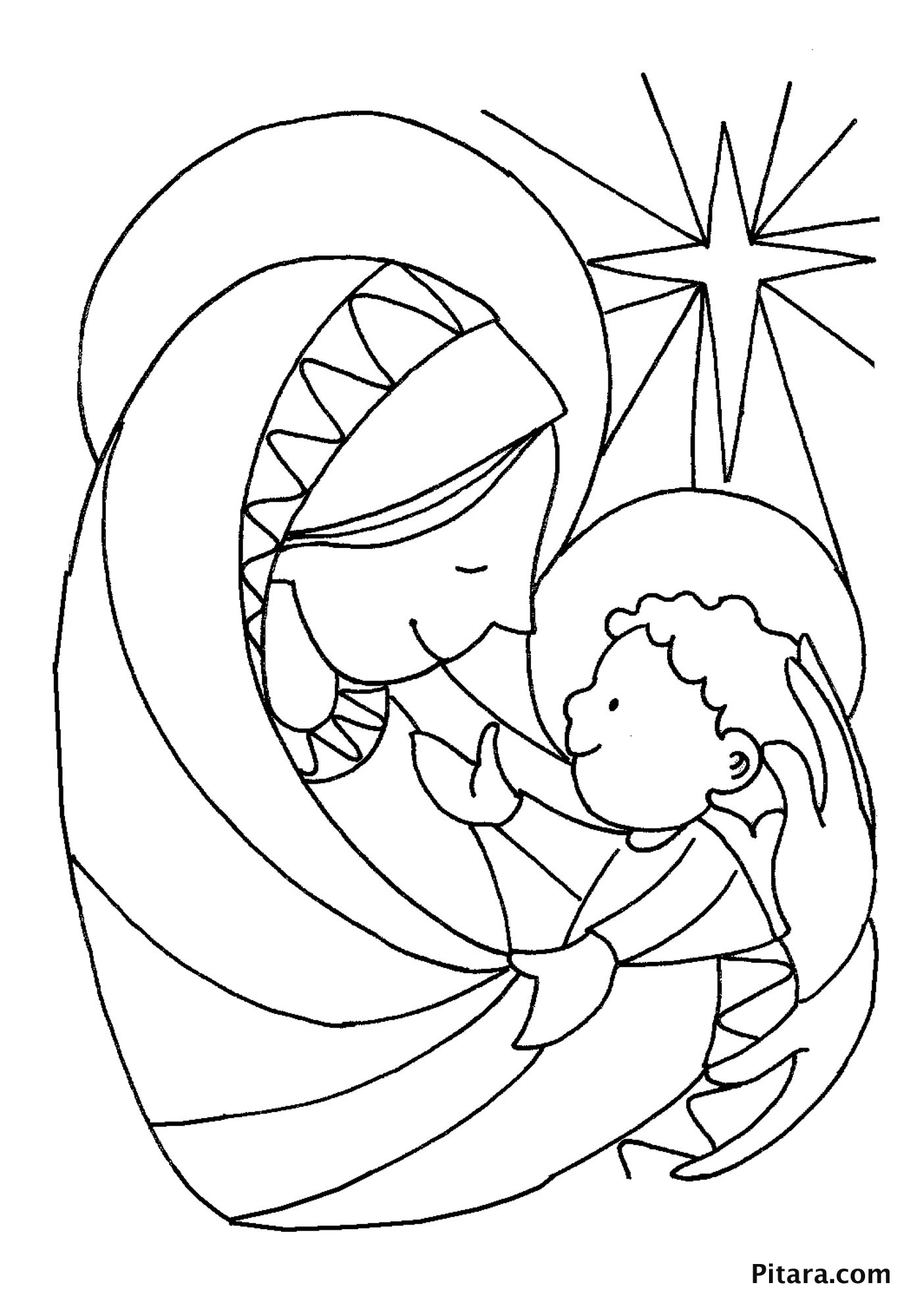 mary and jesus coloring page mary baby jesus coloring page pitara kids network page and coloring jesus mary