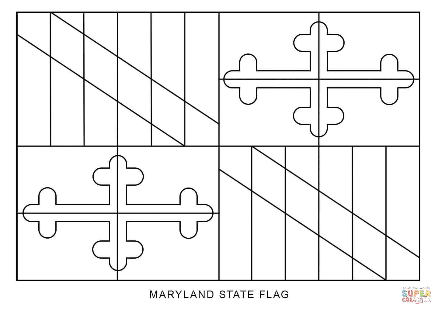 maryland state flag coloring page maryland state flag coloring page coloring home coloring page maryland state flag