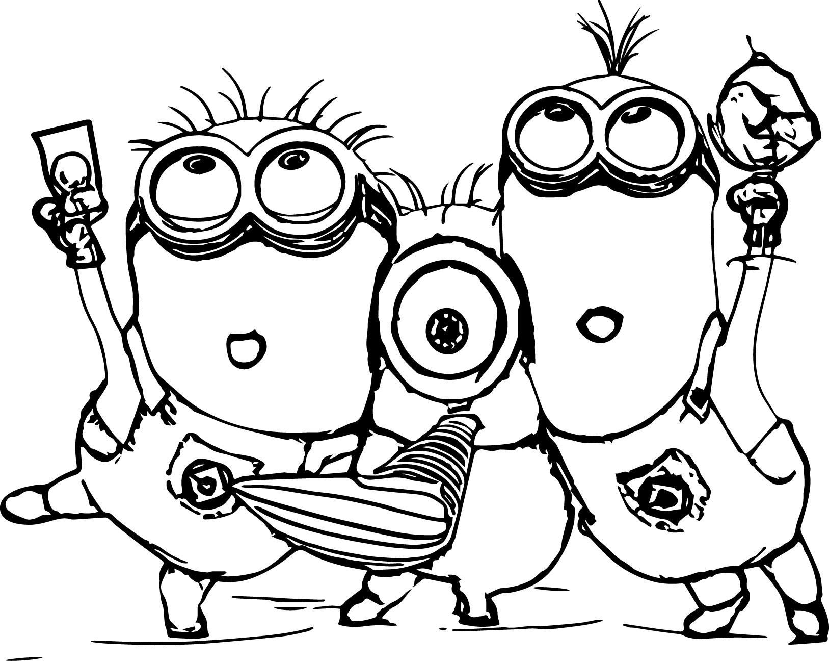 minions print minion coloring pages best coloring pages for kids minions print 1 2