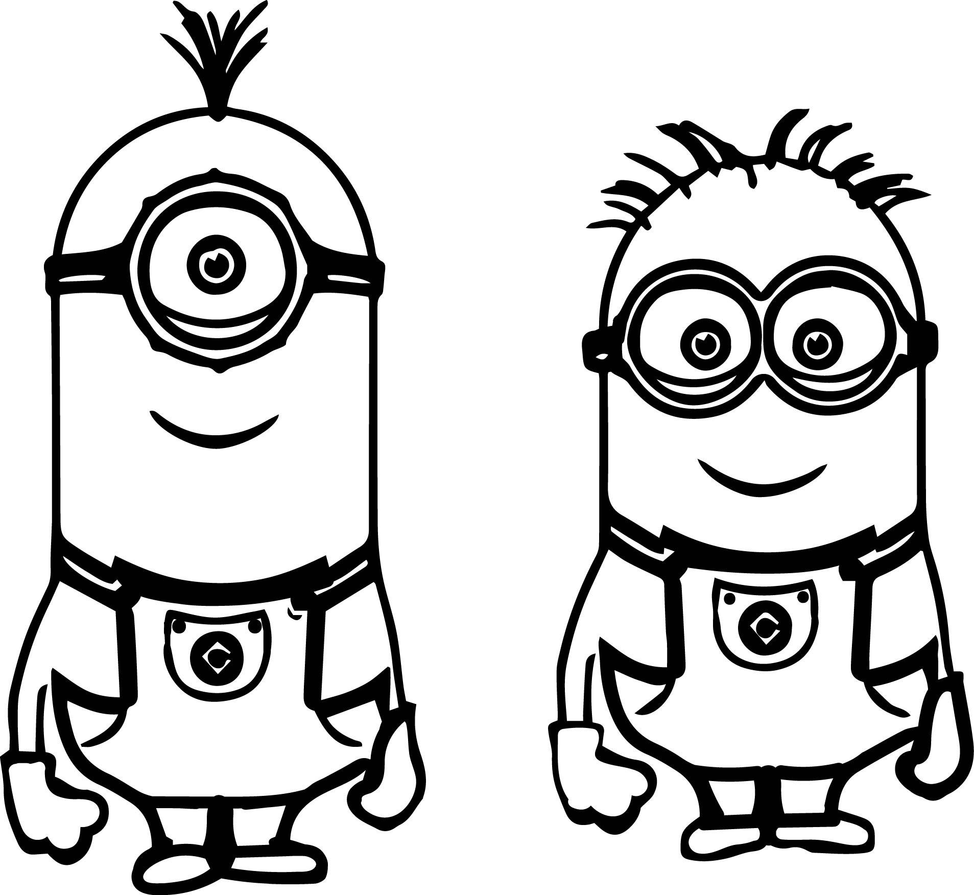 minions print minion coloring pages free download on clipartmag minions print