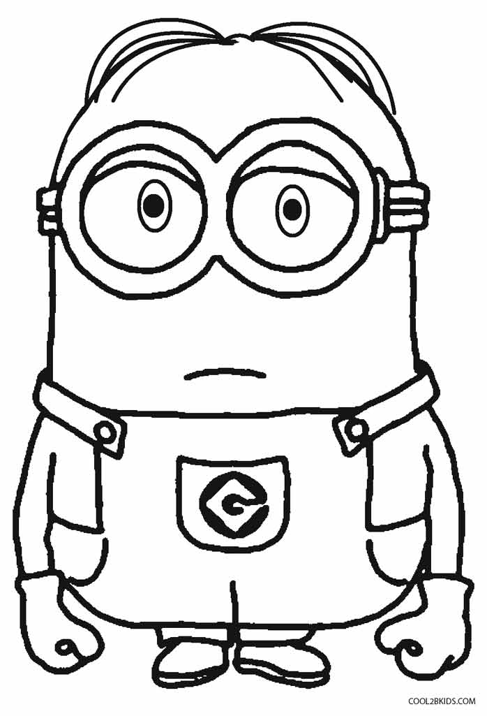 minions print printable despicable me coloring pages for kids cool2bkids minions print