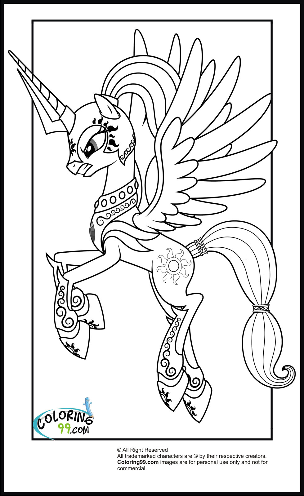 mlp color ponies from ponyville coloring pages free printable mlp color