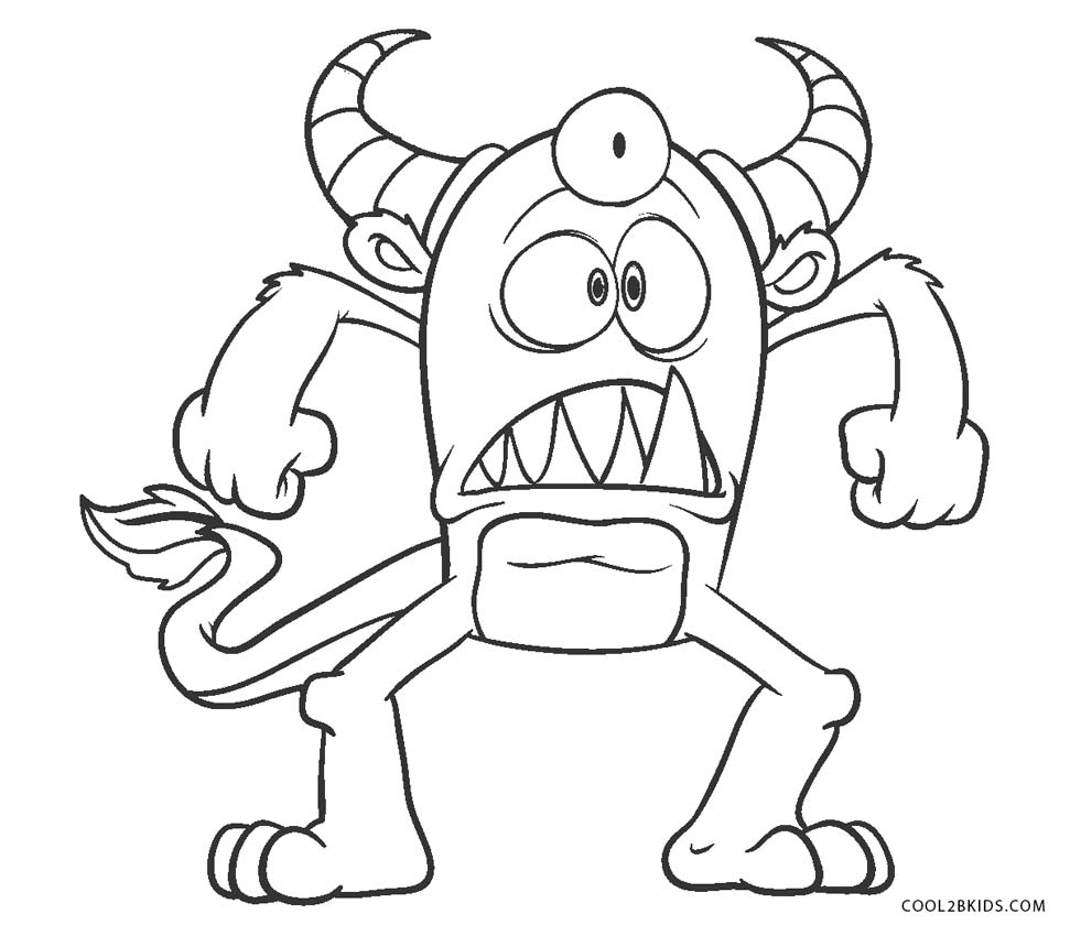 monster pictures to color free printable monster coloring pages for kids pictures color monster to