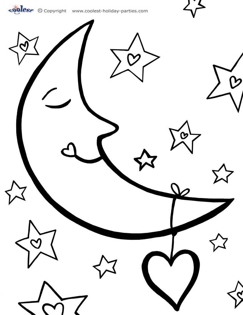 moon coloring page moon coloring pages to download and print for free page coloring moon