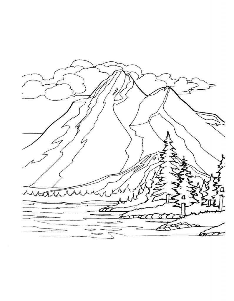 mountain coloring pictures mountains coloring pages best coloring pages for kids pictures mountain coloring