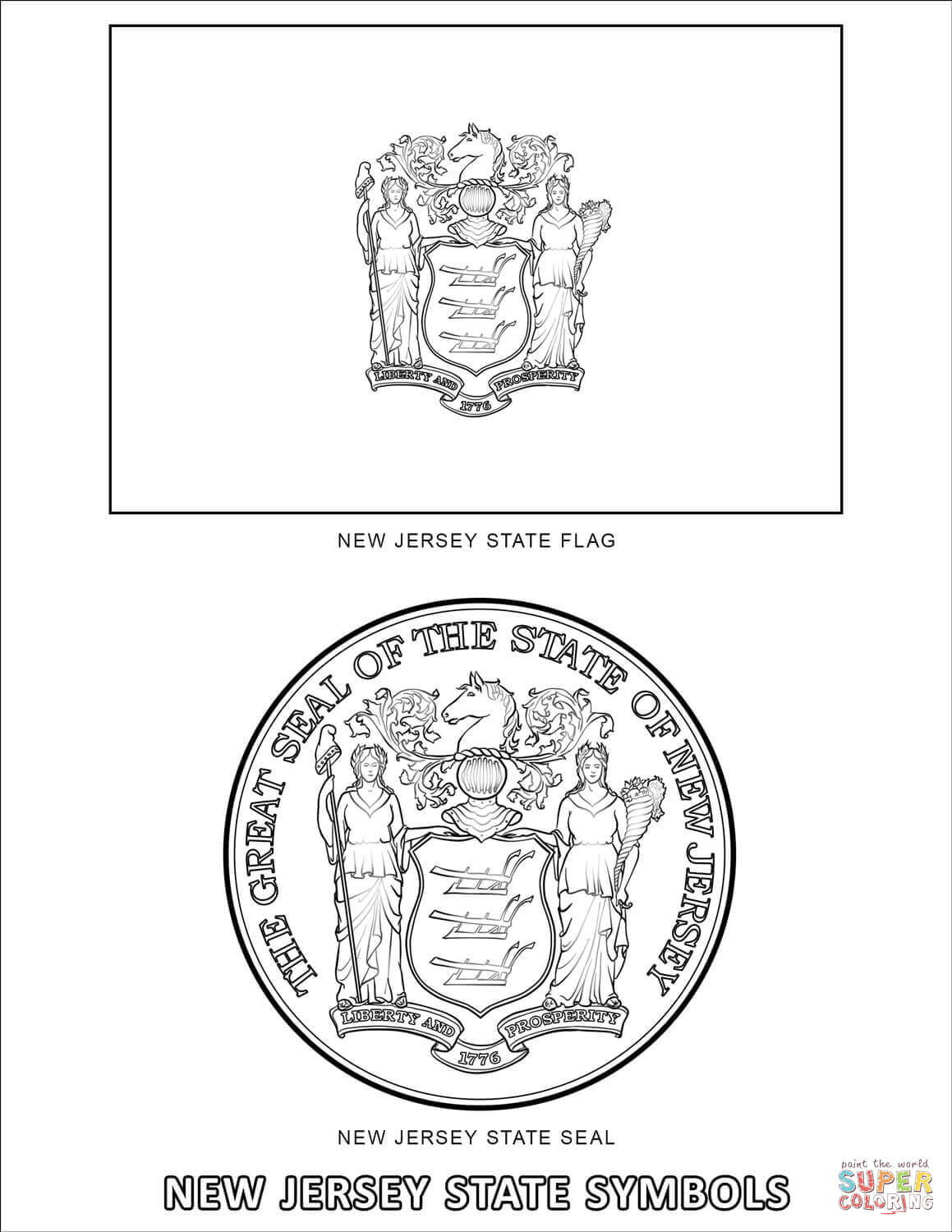 new jersey state symbols coloring pages new jersey state symbols coloring page symbols new coloring pages state jersey