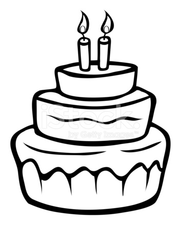 outline picture of cake birthday cake outline clipart best of outline cake picture