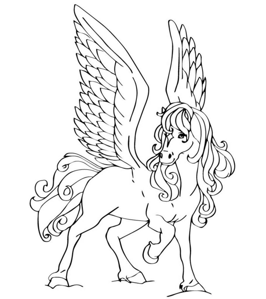 pegasus coloring pages free printable pegasus coloring pages for kids pegasus pages coloring