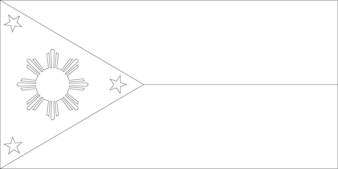philippine flag outline flag of the philippines drawing at getdrawings free download philippine outline flag