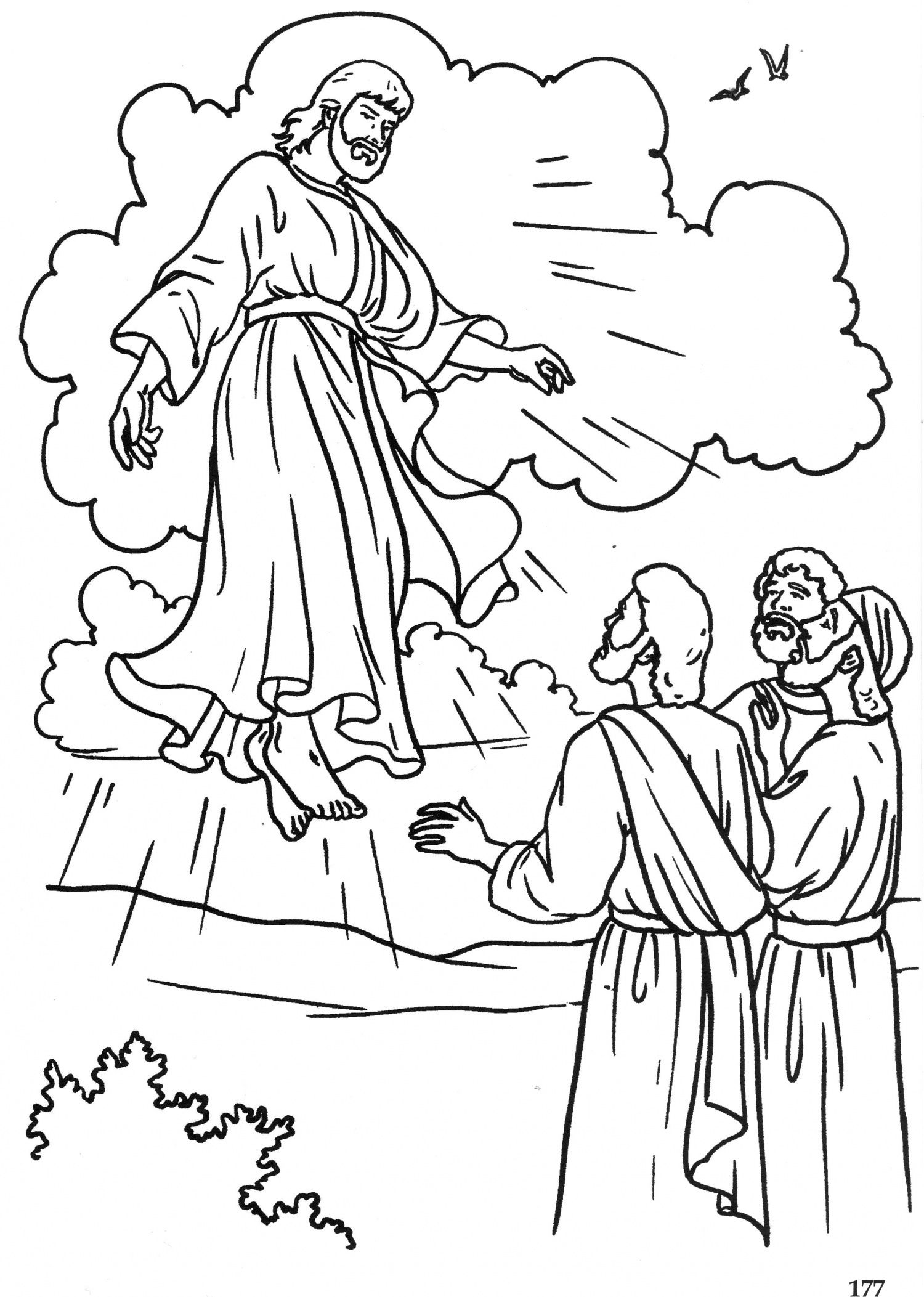 picture of jesus ascending to heaven jesus ascends to heaven giclee print at allposterscom of picture jesus ascending to heaven